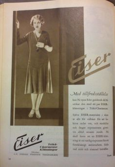 An ad from Eiser, a Swedish textile company who made jersey. 1930.