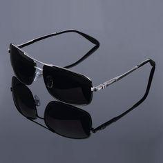 9df0077bcd2 2017 Black Sunglasses Men High Quality Rectangle Polaroid Mirror Adult  UV400 Metal Alloy Frame Summer Glasses Oculos De Sol-in Sunglasses from  Men s ...