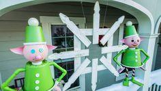 DIY Picket Fence Snowflake