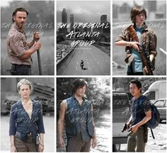 The Atlanta Five: Rick, Daryl, Carol, Glenn, and Carl | The Walking Dead (AMC)