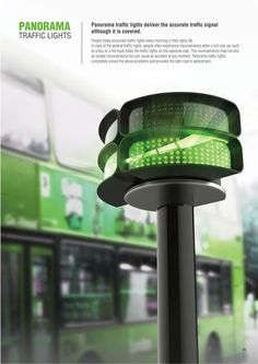 Panorama traffic lights deliver the accurate traffic signal although it is covered.