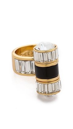Rachel Zoe Single Barrel Baguette Ring
