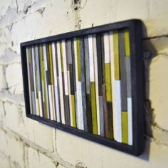 Original and fun way to turn your regular coffee sticks into awesome art. (craft room again? Or bathroom?)