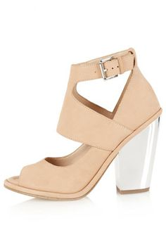GRAFTER Peep Toe Heels foe a little more relaxed work place these are great shoes , lucite heels are trending this spring