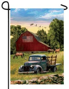 Old Antique Truck Barn Farm House Shed Pumpkin Store License Plate Car Truck Tag
