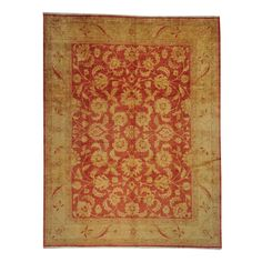 "Hand-knotted Peshawar Rust Area Rug (10' x 13') (Exact Size: 9'8"" x 12'7"")"