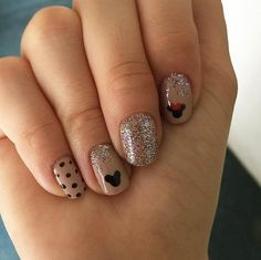 These Disney Nail Art Ideas Will Inspire Your Next Magical Manicure Loading. These Disney Nail Art Ideas Will Inspire Your Next Magical Manicure Nail Art Disney, Disney Manicure, Disney Nail Designs, Manicure Gel, Nail Art Designs, Simple Disney Nails, Disney Acrylic Nails, Disney Princess Nails, Nails Design