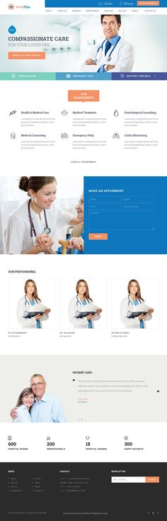 MediPlus is Responsive Bootstrap #Template for #Medical and Health service #website download now