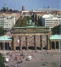 course syllabus and materials for a junior-senior level lecture course on German history after 1945 Brandenburg Gate, Art And Architecture, Dolores Park, Street View, Rubber Tires, Berlin Germany, History, World, Places