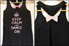 Keep Calm and Dance On Black Flowy by personTen on Etsy, $30.00