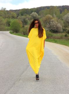 Hey, I found this really awesome Etsy listing at https://www.etsy.com/listing/189368011/yellow-spring-summer-maxi-oversized-plus