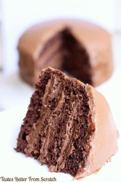 Chocolate Cake with Chocolate Mousse Filling Recipe