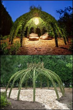 Could you use a unique centerpiece and personal retreat in your backyard or garden? You can never go wrong with these living willow structures!  http://theownerbuildernetwork.co/wswo  Adding a willow structure to your backyard turns it into a place where you can relax and unwind.  Which of these would you like to have in your backyard?