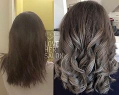 love her salon: What an amazing hair transformation! This look is so popular and right on trend for this spring/summer.  Double tap if you can't get enough of silver grey balayage too! ❤️