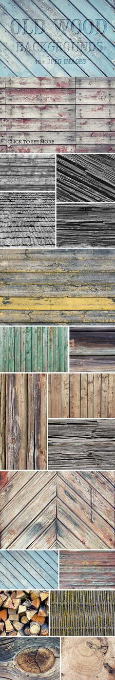 Old wood backgrounds. Textures. $10.00