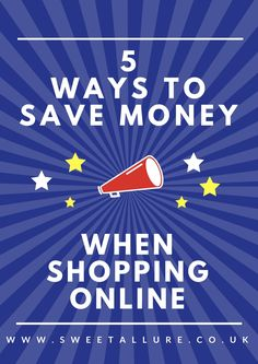Do you love online shopping for clothes, christmas presents, gadgets etc? Then here are some handy tips and tricks to help you save money when shopping online.   5 Ways To Save Money When Clothes Shopping Online.