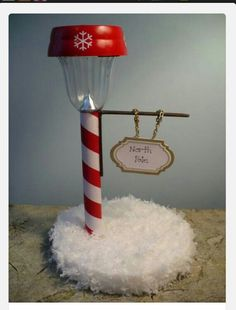 North Pole made from solar light