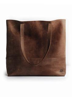Mamuye Leather Tote- Chocolate Brown