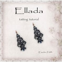 Etsy の Black lace earrings.Holiday earrings for by Emeliebeads