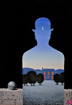 """""""Il donatore felice"""", René Magritte, olio su tela, 1966. Magritte Paintings, Max Ernst, Rene Magritte, Surrealism Painting, True Art, Surreal Art, Art Pages, Magazine Art, Oeuvre D'art"""