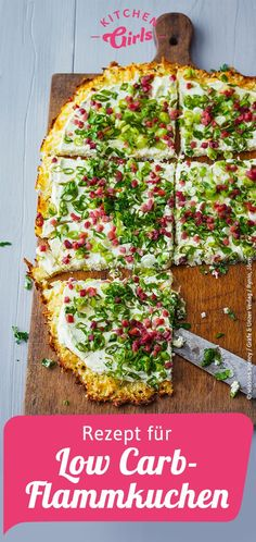 Recipe for low carb tarte flambee - Recipe for low carb tarte flambee Informations About Rezept für Low Carb-Flammkuchen Pin You can ea - Healthy Low Carb Recipes, Low Carb Dinner Recipes, Diet Recipes, Smoothie Recipes, Cake Recipes, Diabetes Recipes, Supper Recipes, Flour Recipes, Smoothie Diet