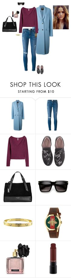 """""""Untitled #2254"""" by gracewirth101 ❤ liked on Polyvore featuring MSGM, Frame Denim, Vivienne Westwood, Tignanello, ZeroUV, Cartier, Gucci, Victoria's Secret and MAC Cosmetics"""