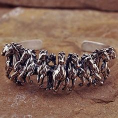 horse ring in silver