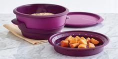 Tupperware Purple 4 Piece Smart Steamer Microwave Cooker for sale online Tupperware Pressure Cooker, Microwave Pressure Cooker, Multi Cooker Recipes, Tupperware Consultant, Tupperware Recipes, Steam Recipes, Healthy Cooking, Healthy Eating, Fall Recipes