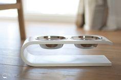 Double bowl cat feeder cat bowls cat dish pet feeder cat