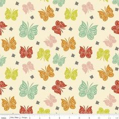 Acorn Valley Flutter Multi Cotton Lycra Knit Fabric by Riley Blake