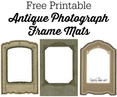Antique Photograph Mat Frame Printable from KnickofTime.net
