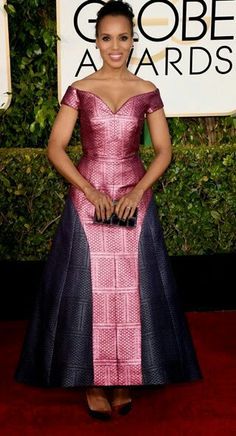 VISIT FOR MORE Kerry Washington annual Golden Globe Awards arrivals (January The post Kerry Washington annual Golden Globe Awards arrivals (January appeared first on Fashion design. African Dresses For Women, African Print Dresses, African Attire, African Wear, African Women, African Fashion Ankara, African Print Fashion, Africa Fashion, Robes Glamour