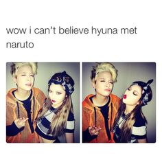 Amber and hyuna but I think krystal will be jealous tho with amber hanging out with other girls #4minute #f(x )