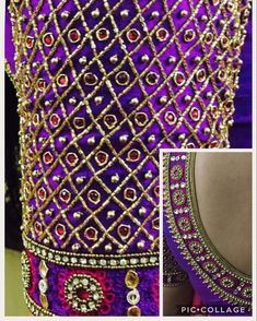 Latest Checks Blouse Designs for 2019 Latest Checks Pattern Work Blouse Designs for 2019 Cutwork Blouse Designs, Netted Blouse Designs, Simple Blouse Designs, Bridal Blouse Designs, Blouse Neck Designs, Hand Embroidery Designs, Aari Embroidery, Simple Designs, Border Embroidery