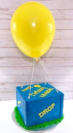 Fortnite supply drop box theme cake! #nikijoycakes #buttercream #cake #instacake #cakesofig #cakesofinstagram #fortnitesupplydrop #fortnitecake Birthday Party Games For Kids, 9th Birthday Parties, Kids Party Themes, Party Ideas, Birthday Ideas, 8th Birthday Cake, Boy Birthday, Fête Jurassic Park, Drop Cake