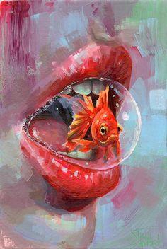 'Inner Fish', Tanya Shatseva, acrylic, 2020