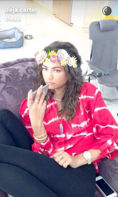 Zendaya on Deja's snapchat. She is gorgeous