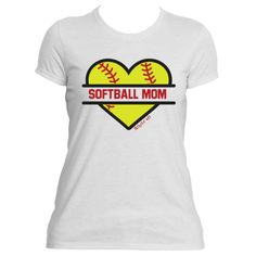 Softball Mom Baseball Mom Heart T-shirt with your player's personalized name and number    Show your love for the sport with these personalized Baseball/Softball Mom Tees!  If you like,  personalize with your child's name and number as shown in first picture . Please send note when ordering which shirt you would like (baseball or softball) and any personalization you would like.    This shirt is available in black and white and your choice of ladies fit or unisex fit.  (message me to request…