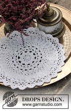 Starry Night Doily A Touch of Color crochet pattern leaflet