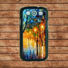 Samsung Galaxy S3 case---The Man Rambling In The Rain Oil Painting Style Design,in plastic hard case,black or white or clear color by tomes8899, $14.99