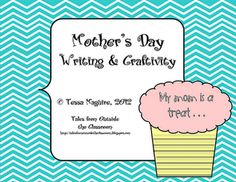 Free Mother's Day craftivity with a writing prompt