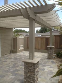 The pergola you choose will probably set the tone for your outdoor living space, so you will want to choose a pergola that matches your personal style as closely as possible. The style and design of your PerGola are based on personal Pergola Canopy, Backyard Pergola, Backyard Landscaping, Backyard Ideas, Cheap Pergola, Gazebo Ideas, Porch Ideas, Pavers Patio, Outdoor Ideas