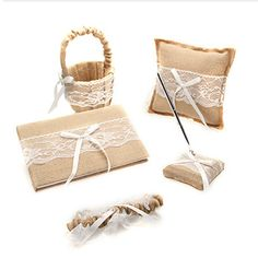 Cheap pen, Buy Quality pen support directly from China pen telescope Suppliers: 	Free shipping 5 pieces lace linen wedding garter ring pillow flower girl basket set	  	Wedding Collection: Gu