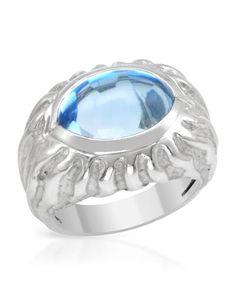 Topaz in white gold. Gorgeous ring.