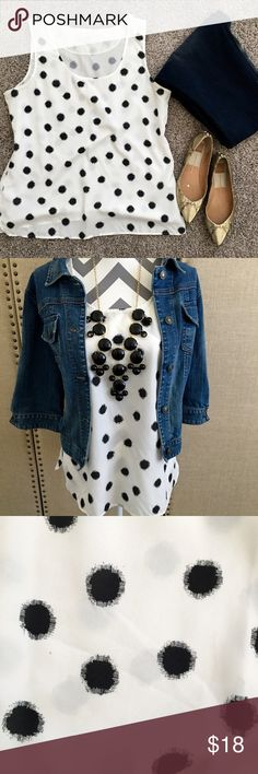 Ann Taylor LOFT polka dot blouse Ann Taylor LOFT blouse 25 inches from shoulder to hem made of 100% polyester LOFT Tops Tank Tops