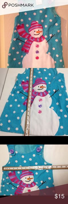 Bonnie Jean snowman jumper 4T So cute and ready for winter.  Adorable jumper size 4. See pics for measurements. Bonnie Jean Dresses Casual
