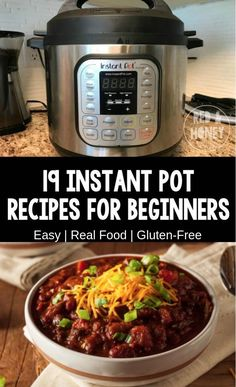 Easy Instant Pot Recipes for Beginners (Real Food Ingredients!) is part of Instant pot recipes - These easy instant pot recipes for beginners are your official handholding as you take the plunge into Instant Pot love Don't put it off any longer! Real Food Recipes, Cooking Recipes, Healthy Recipes, Simple Recipes, Cooking Ideas, Detox Recipes, Quick Recipes, Easy Instapot Recipes, Beef Recipes