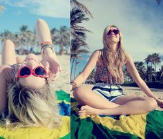 Village Ny Sunglasses, Love Luxo Bikini, Miss Lolla Shorts, Mentacafé Bracelet, Chilli Beans Watch