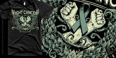 """""""FIGHT CANCER"""" t-shirt design by Raf The Might"""