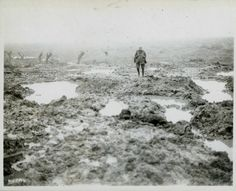 Lone Canadian soldier in Passchendaele. Europe WWl The Great War. Canada did what no other army could.